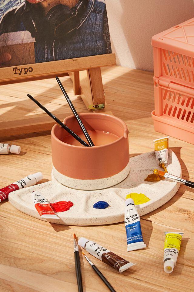 Ceramic Paint Palette Set, CLAY