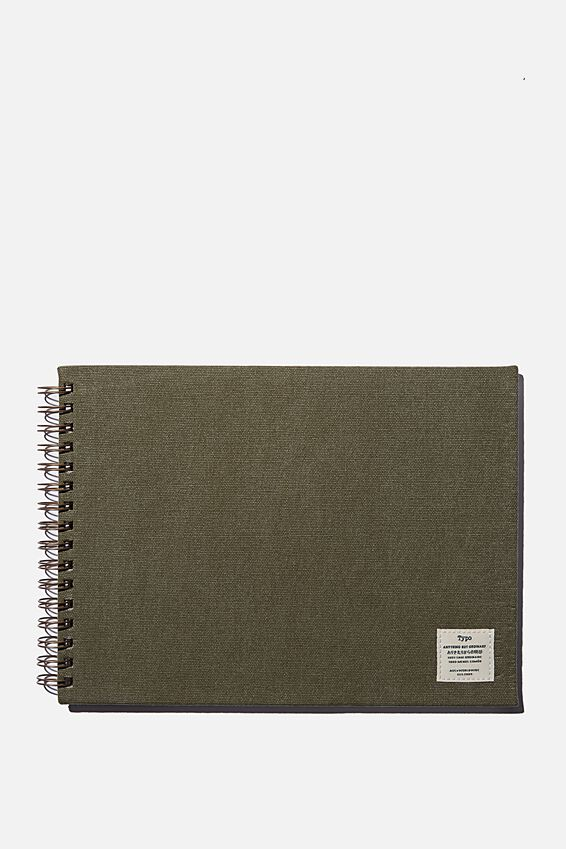 A4 Spiral Sketch Book, KHAKI
