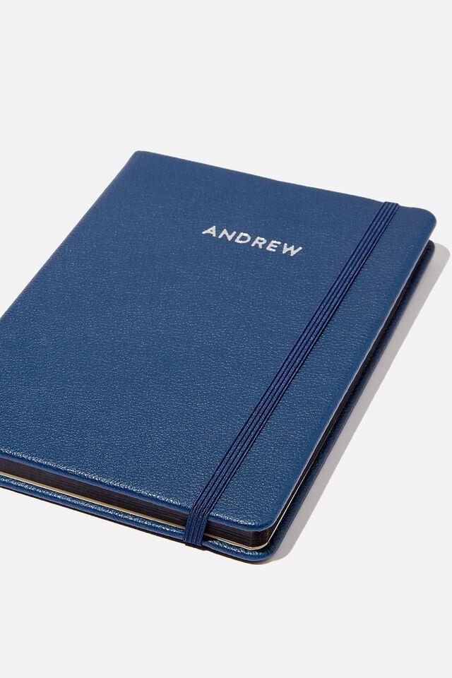 A5 Buffalo Journal Personalised, NAVY