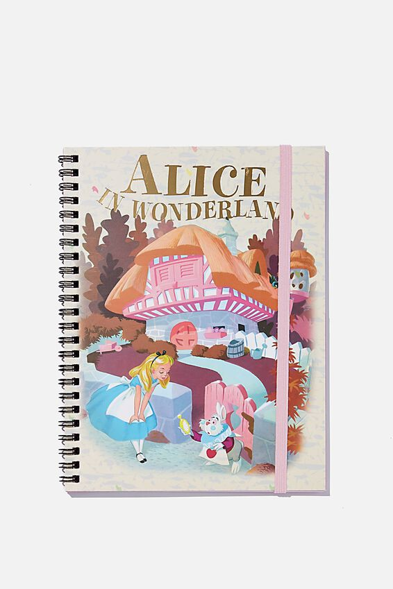 A5 Spinout Notebook Recycled, LCN DIS ALICE IN WONDERLAND