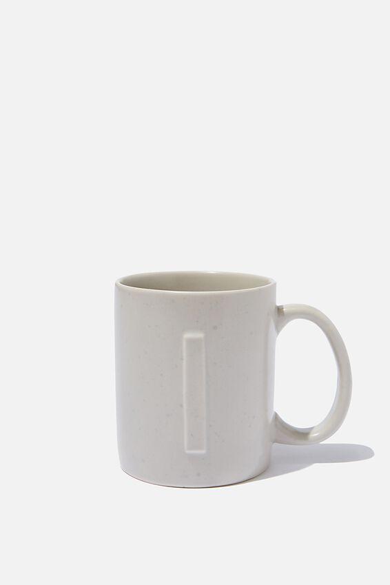 Alphabet Anytime Mug, SPECKLED I