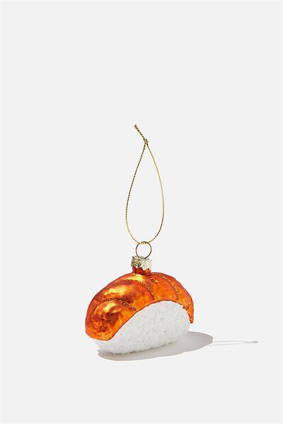 Small Glass Christmas Ornament, SALMON SUSHIMI