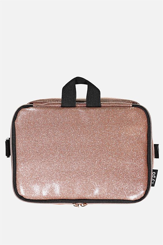 Premium Cooler Lunch Bag, ROSE GOLD GLITTER