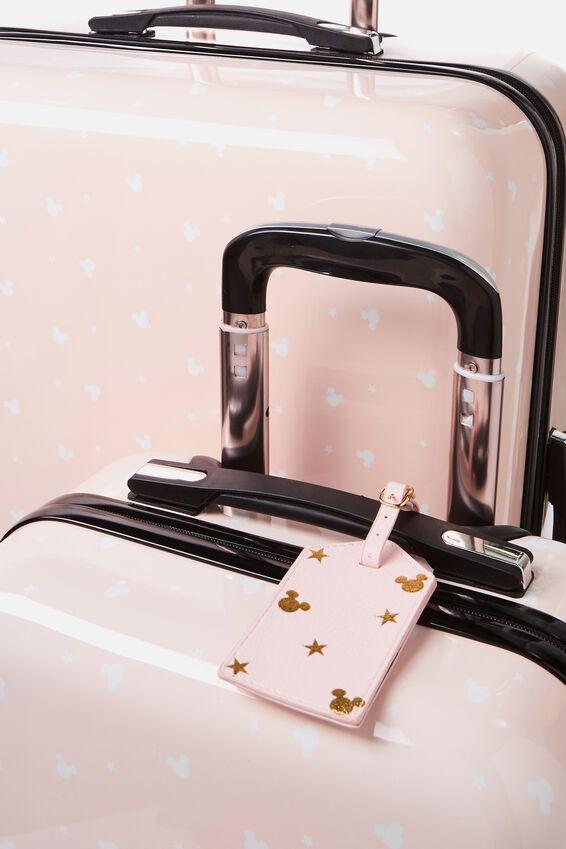 License Suitcase Set, LCN BLUSH MICKEY DITSY PRINT