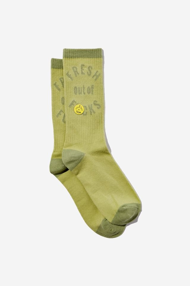 Socks, FRESH OUT OF F*CKS TUBE GREEN !!