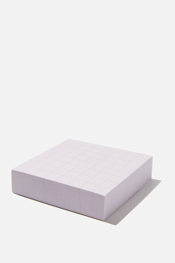 Sticky Note Block, PINK GRID