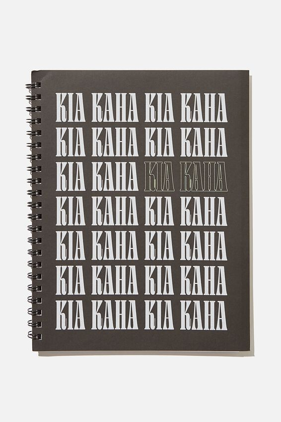 A4 Campus Notebook Recycled, RG NZ KIA KAHA