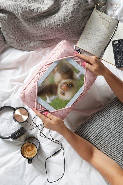 Tablet Cushion, PINK TERRAZZO