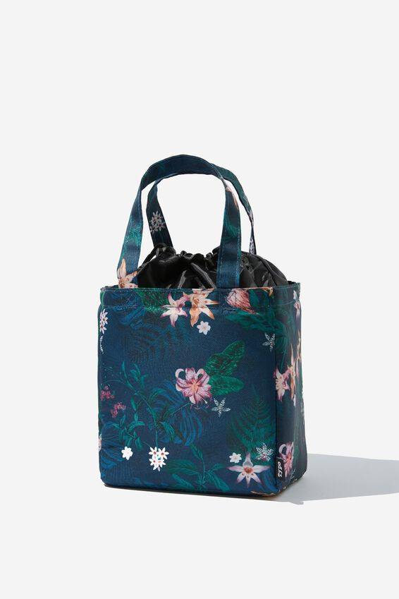 Double Handle Lunch Bag, JUNGLE FLORAL