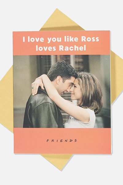 Love Card, LCN WB FRIENDS ROSS LOVES RACHEL