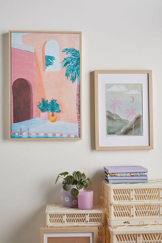 40 X 60 Canvas Art, PALMS POOLSIDE