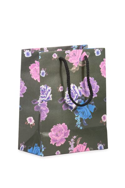 Stuff It Gift Bag - Small, BLACK FLORAL