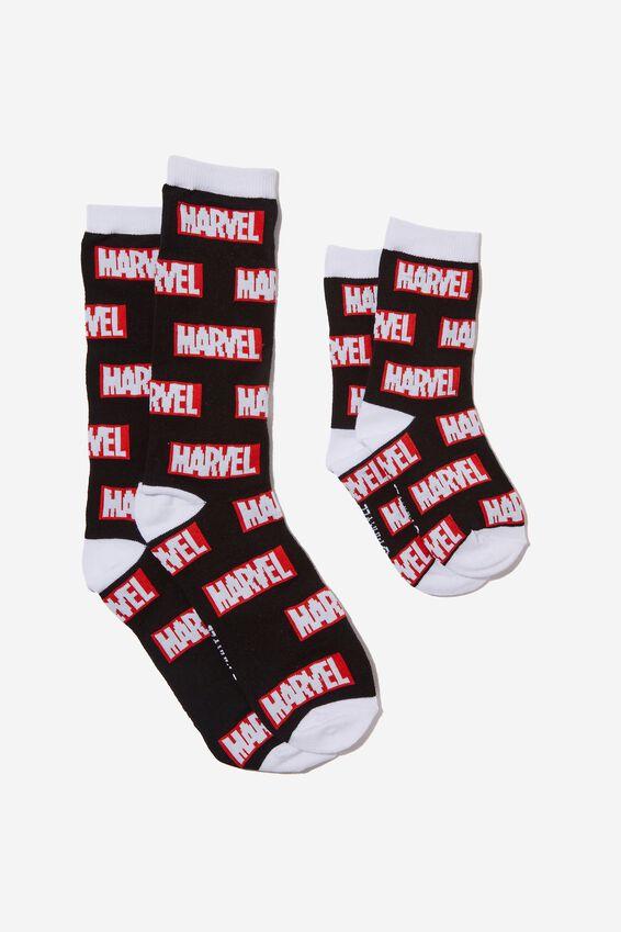 Parent & Child Sock Pack, LCN MAR MARVEL
