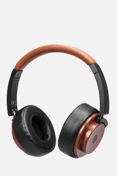 Wireless Signal Headphone, WOOD GRAIN