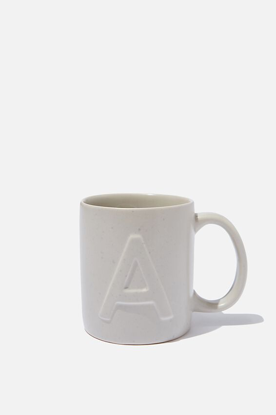 Alphabet Anytime Mug, SPECKLED A
