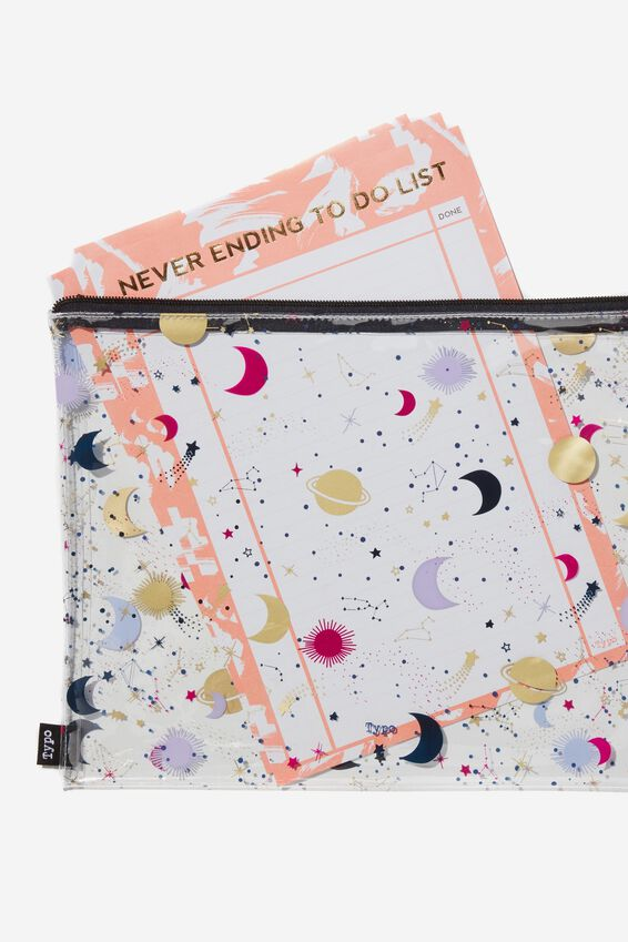 Printed Document Wallet, MOON CHILD