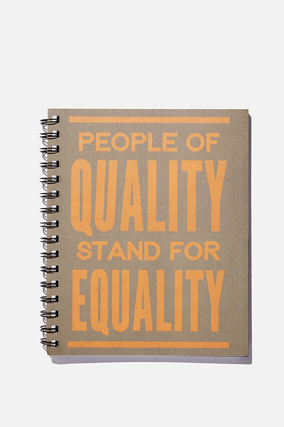 A5 Campus Notebook Recycled, STAND FOR EQUALITY ORANGE