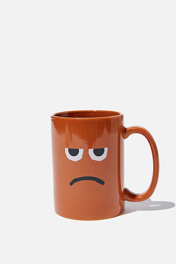 Double Dose Mug, UNHAPPY FACE