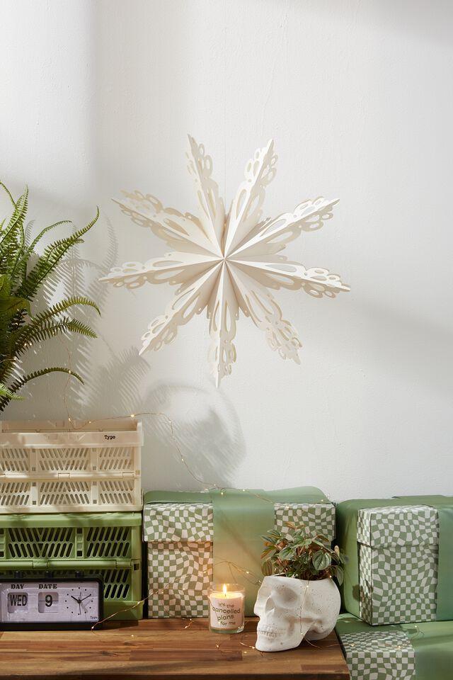 Paper Snowflake Decoration, WHITE