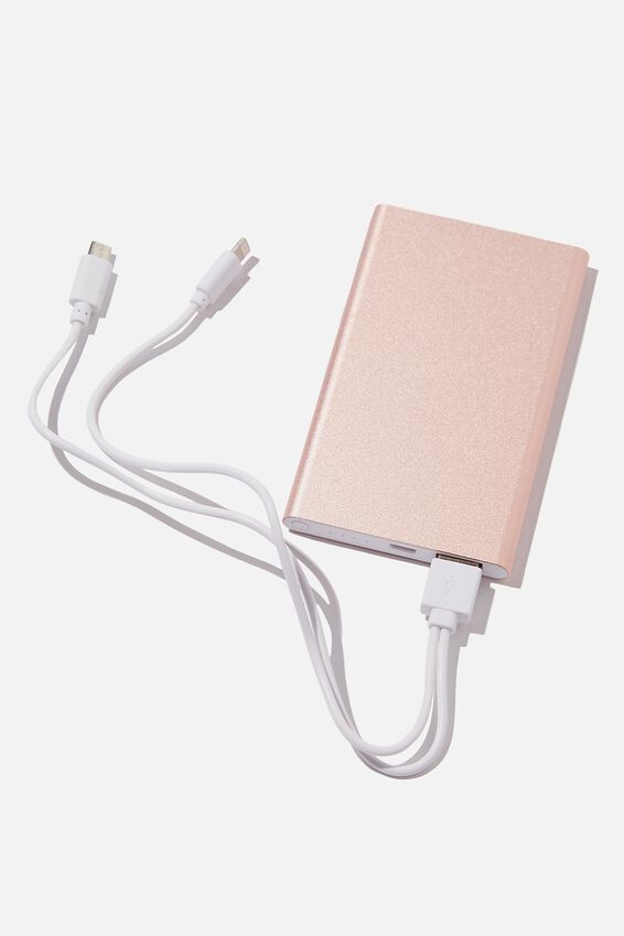 Charge It Power Bank, BLUSH METALLIC