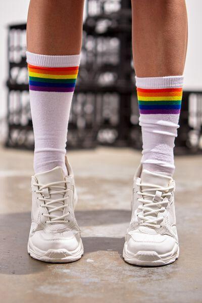 Mens Novelty Socks, STRIPE RAINBOW