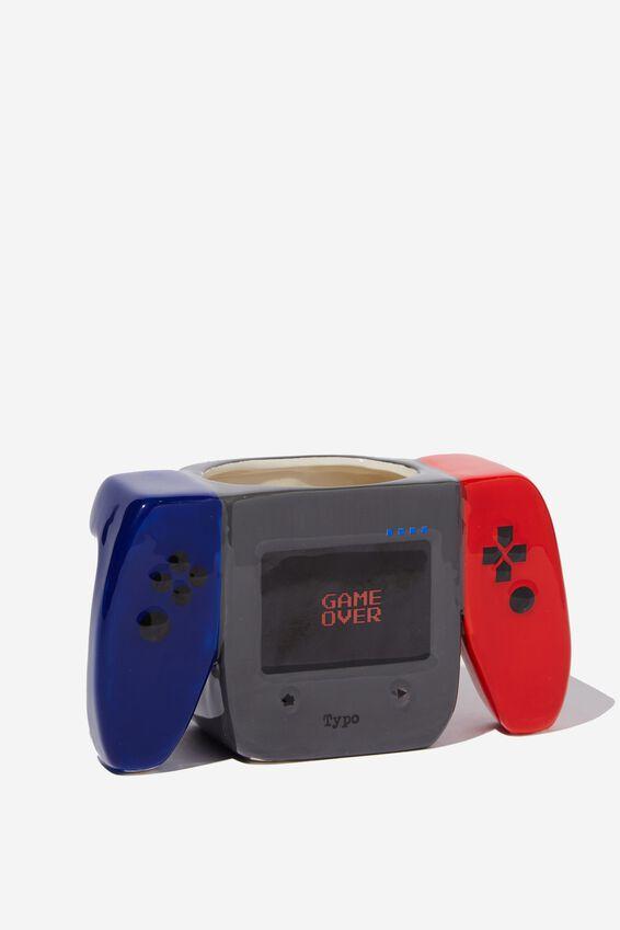 Novelty Shaped Mug, RED & BLUE GAMER