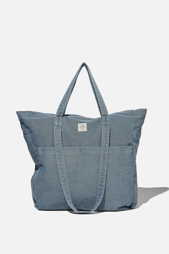 The Studio Tote Bag, WASHED DENIM BLUE