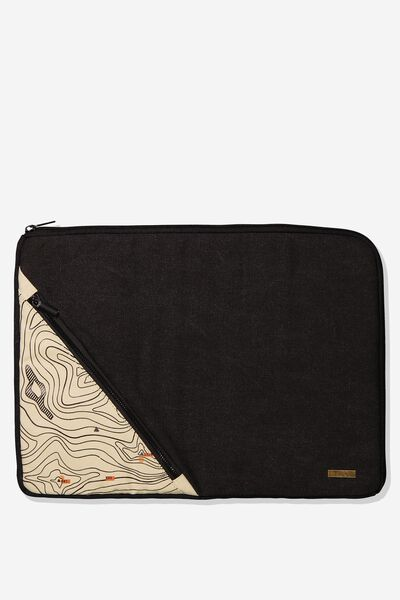 Premium Laptop Case 15 Inch, BLACK MAP
