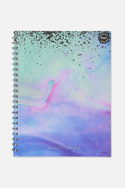 A4 Campus Notebook Dot Internal Recycled, PARADISE WATERCOLOUR