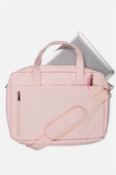 Take Charge Laptop Bag 15 Inch, BLUSH PERFORATED
