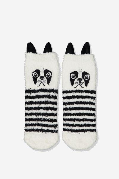 Slipper Sock, STRIPE FRENCHIE