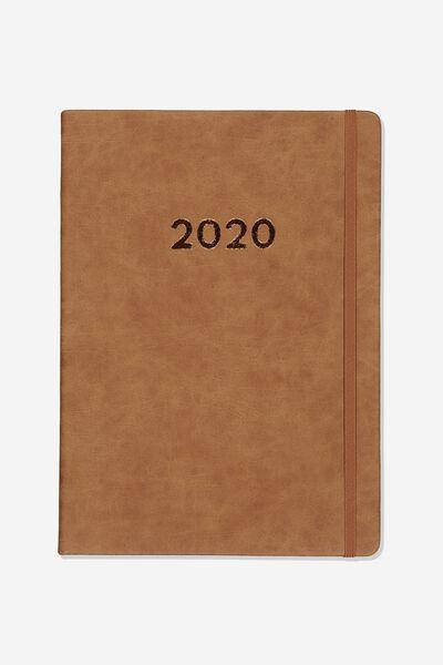 2020 A4 Daily Buffalo Diary, MID TAN