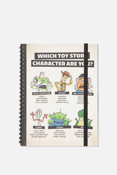 A5 Spinout Notebook - 120 Pages, LCN DIS TOY STORY
