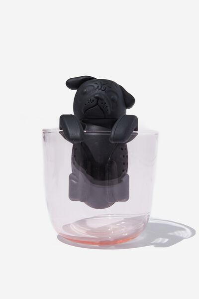 Novelty Tea Infuser, PUG BLACK