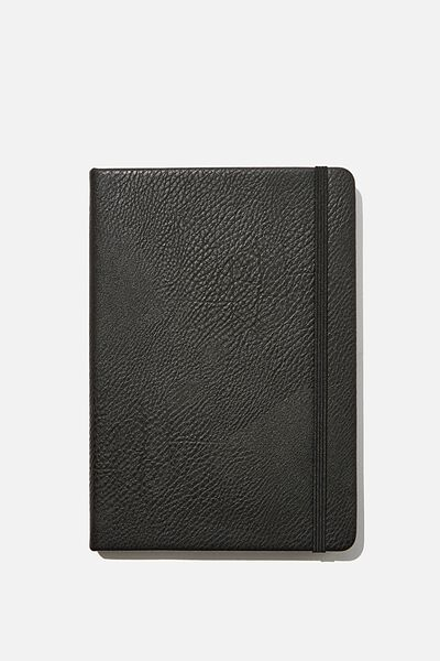 A5 Blank Buffalo Journal, BLACK