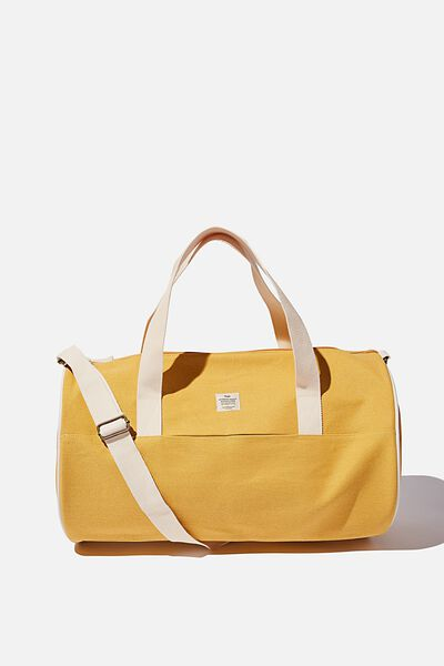 Canvas Barrel Bag, MUSTARD