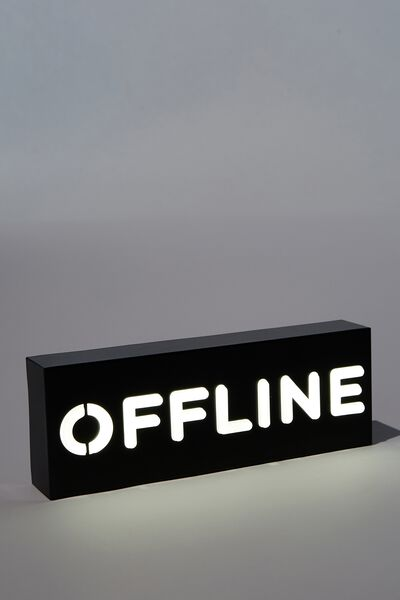 Metal Block Light, OFFLINE