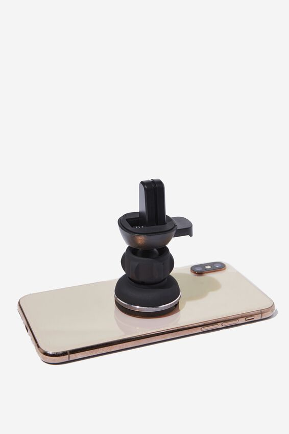Car Phone Mount, BLACK RUBBERISED
