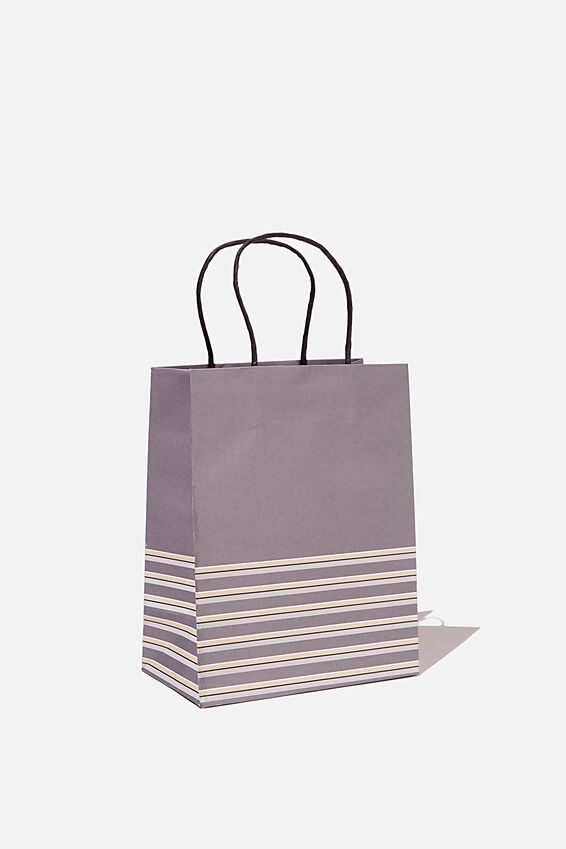 Get Stuffed Gift Bag - Small, SLATE MULTI STRIPE