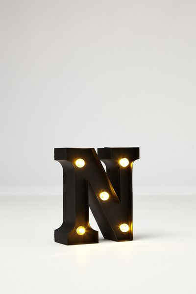 Mini Marquee Letter Lights 10cm, BLACK RUBBER N