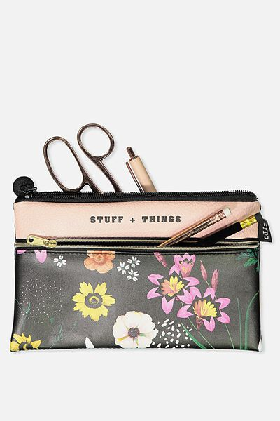 Deluxe Archer Pencil Case, FLORAL STUFF AND THINGS