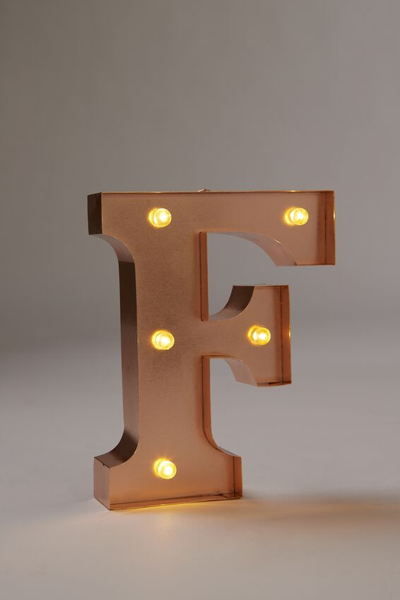 Marquee Letter Lights Premium 16cm Midi, ROSE GOLD F