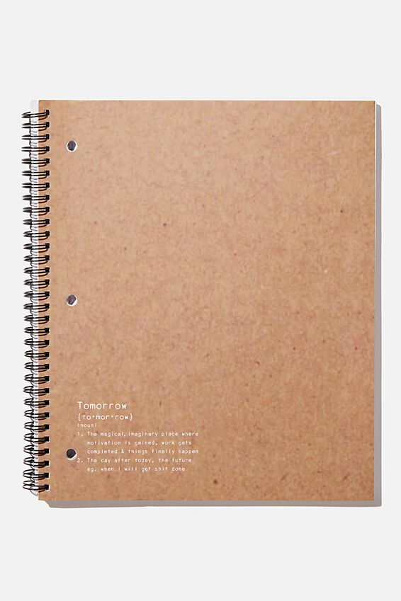 College Ruled Campus Notebook, TOMORROW!