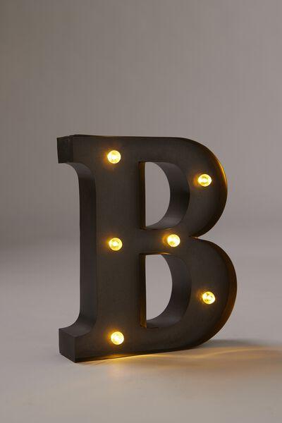 Midi Marquee Letter Lights 16cm, SILVER B