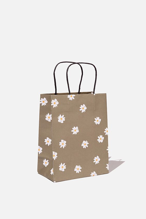 Get Stuffed Gift Bag - Small, DAISY KHAKI
