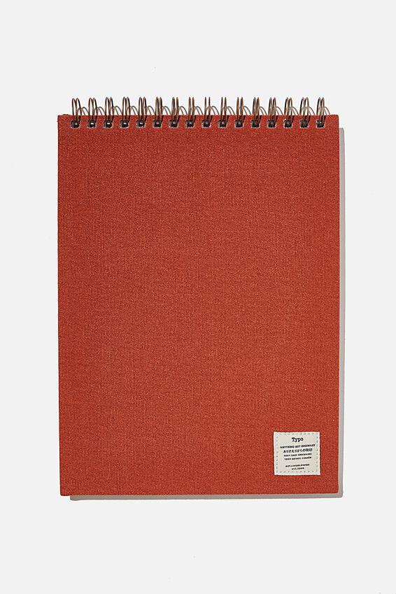 A4 Spiral Sketch Book, RUST