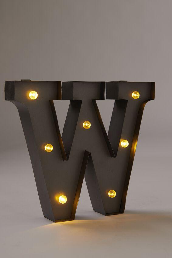 Midi Marquee Letter Lights 6.3inch, SILVER W
