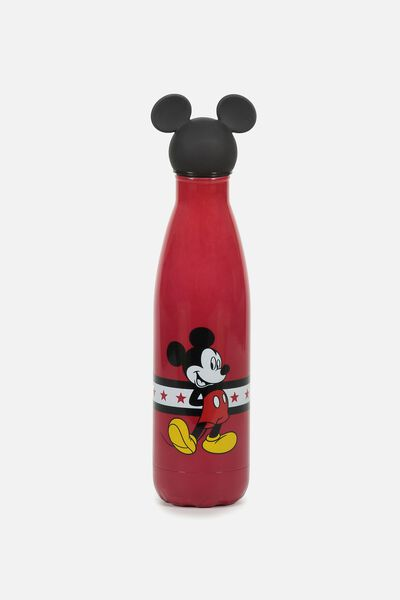 Premium Metal Drink Bottle, LCN MICKEY TOPPER RED