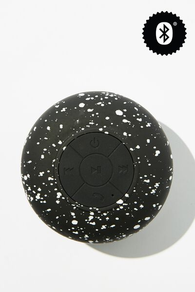 Wireless Shower Speaker, BLACK SPLATTER
