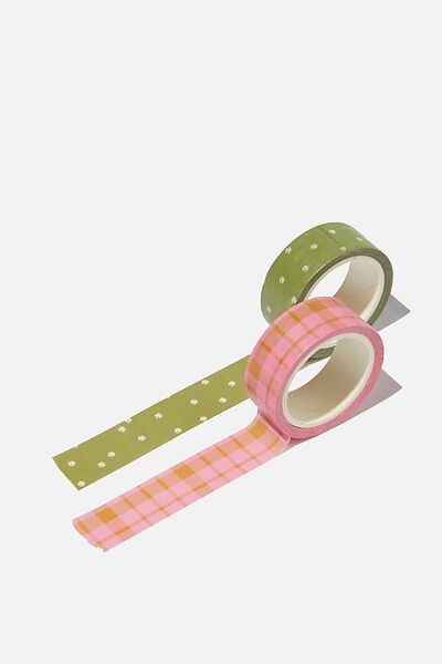 Washi Tape 2Pk, TUSSOCK FLORAL